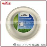 EU standard food grade party use outdoor eating eco-friendly plastic biodegradable round disposable dinner plate