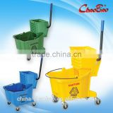 Single Mop Bucket Wringer Trolley with wheels