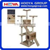 New design cat craft cat tree, cat furniture tree house, cat scratching tree with hanging cat toy