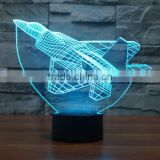 Kids Room Home Decoration Best Gift Optical Illusion 3D Lamp 7 Colour Changing Led Night Light