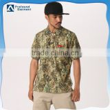 wholesale floral printed t shirt embroidered polo t shirt mens camouflage polo t shirt factory