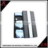 Men new design gift well package polyester tie cufflink hanky set