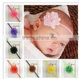 New Girls Rhinestone Lotus Flower Headbands Baby Elastic Hair Bow Headwear HOT!