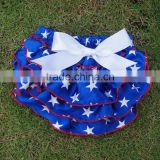 Blue Star Printed US National Day Infant Satin Bloomers