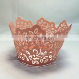 NEW beautiful leaf shape Laser Cut cupcake wrappers birthday wedding party cake decoration favors