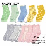 Professional supplier Promotional custom girls and boys fashion cartoon cute 100% organic cotton ankle socks for winter