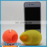 Durable Egg Shape Silicone Phone Speaker for Promotion