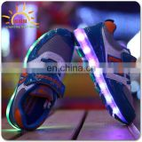 2016 wholesale LED shoes with OEM logo printing
