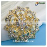 100%QC Bailange wholesale rhinestone brooch flower brooch for wedding invitation