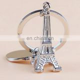 Eiffel tower keychain Custom Blank Metal Keychain wholesale cheap price metal keychain