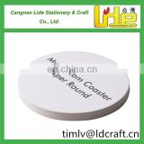 Factory OEM my custom coasters paper round for promotion advertise using for wine, tile, vintage