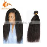 Best Sale Natural Color Yaki Straight Human Indian Hair Weft Remy Virgin Hair