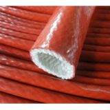 Silicone coated Fiberglass Sleeving Fiberglass pipe silicone sleeve, Heat insulation, Durability