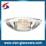 Wholesale promotional cheap clear boat shaped tea light holder for wedding/home decoration