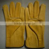 new products cow split leather car driving gloves skin safety and protection products