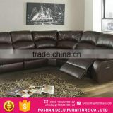 European Style Brown Half Moon Modern Classic Sofa For Decoration