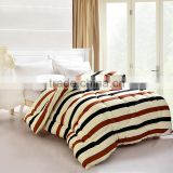 China wholesale striped pattern cheap quilts 300gsm polyester fabric bed linen