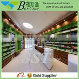 Modern retail store used wooden bar furniture pharmacy counter for sale