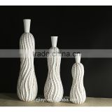 Abstract thread narrow mouth vase floor vase white minimalist atmosphere fine resin craft Home Decoration