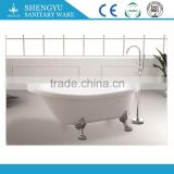 SY-1019 European style classical freestanding white acrylic claw bath tub