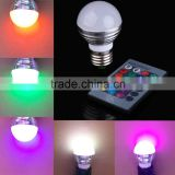 E27 3W LED 16 Color Changing LED Light Bulb Lamp + 24Key IR Remote Control Colors Change
