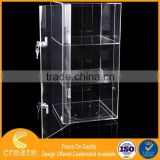 Guanghou factory 3 layers acrylic bread/cake food display cabinet stand on table