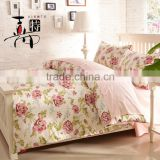 Spring flower 100% cotton printed twin bedding set bedclothes comforter set/bedsheet/bed linen