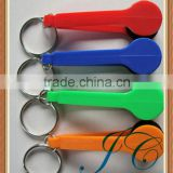 Wholesale plastic eyeglass cleaner keychain/screen cleaner