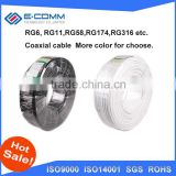 China wholesale rg8 rg6 coaxial cable price armoured coaxial cable 75 ohm to hdmi adapter