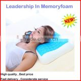 visco elastic gel cooling pillow, contoured shape for cervical therapy, high density and comfortable