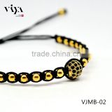 2016 SALE Latest Fashion beaded rope bracelets,stainless steel beads design bracelet jewelry