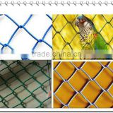 Woven diamond pattern of chain link fence