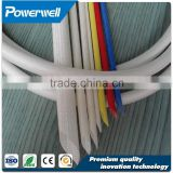 High standard silicone resin coated insulation fiberglass sleeving,silicone fiberglass sleeve