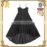 Sleeveless lady overalls pants uniforms dresses/female clothing design