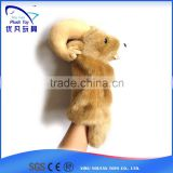 For promotion kids 26cm stuffed sheep soft 2015 popular nice beautiful baby toy hand puppet