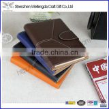 Classic business faux leather notebook cover with nice stitching