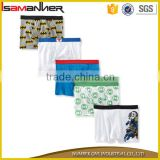 Cartoon character printing 100% cotton soft boxer boys thong underwear