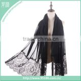 SC-116442 Lace Chiffon Scarf Bridal Valentine's Day Gift Scarf Womens shawl Gift ideas High Quality Scarf