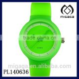 fashion students watch apple green silicone strap can print logo*analog quartz silicone watch for students