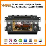 Car DVD GPS Player for Kia Borrego(2009-2010),HD/PIP/11 languages USB/SD/BT/IPOD/AV-in/AUX/ back view/car logo/wallpaper