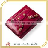 Factory direct sale multi-color personalized leather wallet for women