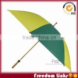 8K stylish Glof Wooden Umbrella With Wooden Stick