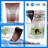 transparent aluminum foil packaging bag ,coffee bean packaging Aluminium foil ziplock bags