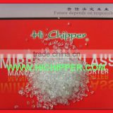 Glass abrasive chips