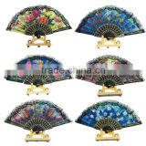 1pcs Vintage Flower Floral Fabric Lace Folding Hand Dancing Wedding Party Decoration Fan Free Shipping