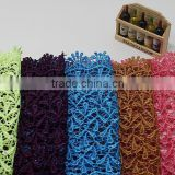 18.5cm Bulk Wide Embroidery Cotton Lace Trim,Color Lace Trim For Clothing