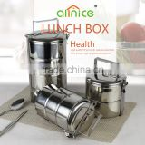 Allnice good quality multilayer design protable insulated stainless steel food container/food storage box delivery design