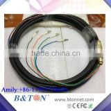 FTTH Outdoor LC 4Core Waterproof Quad Fiber Optic Patch Cord