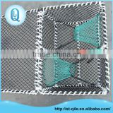Strong metal frame pe net rectangle durable lobster and crabs traps
