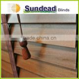 paulownia Basswood 2 inches natural wood Blinds with ladder tape at wholesale price for home decoration